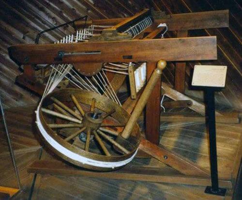 Eski çağlardan bir iplik eğirme makinesi
